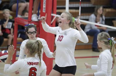 WIAA girls volleyball photo: Mount Horeb's Elise Goetzinger