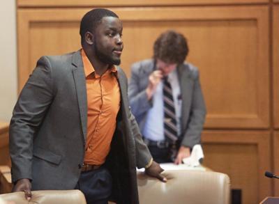 Montee Ball at 2016 sentencing, State Journal photo