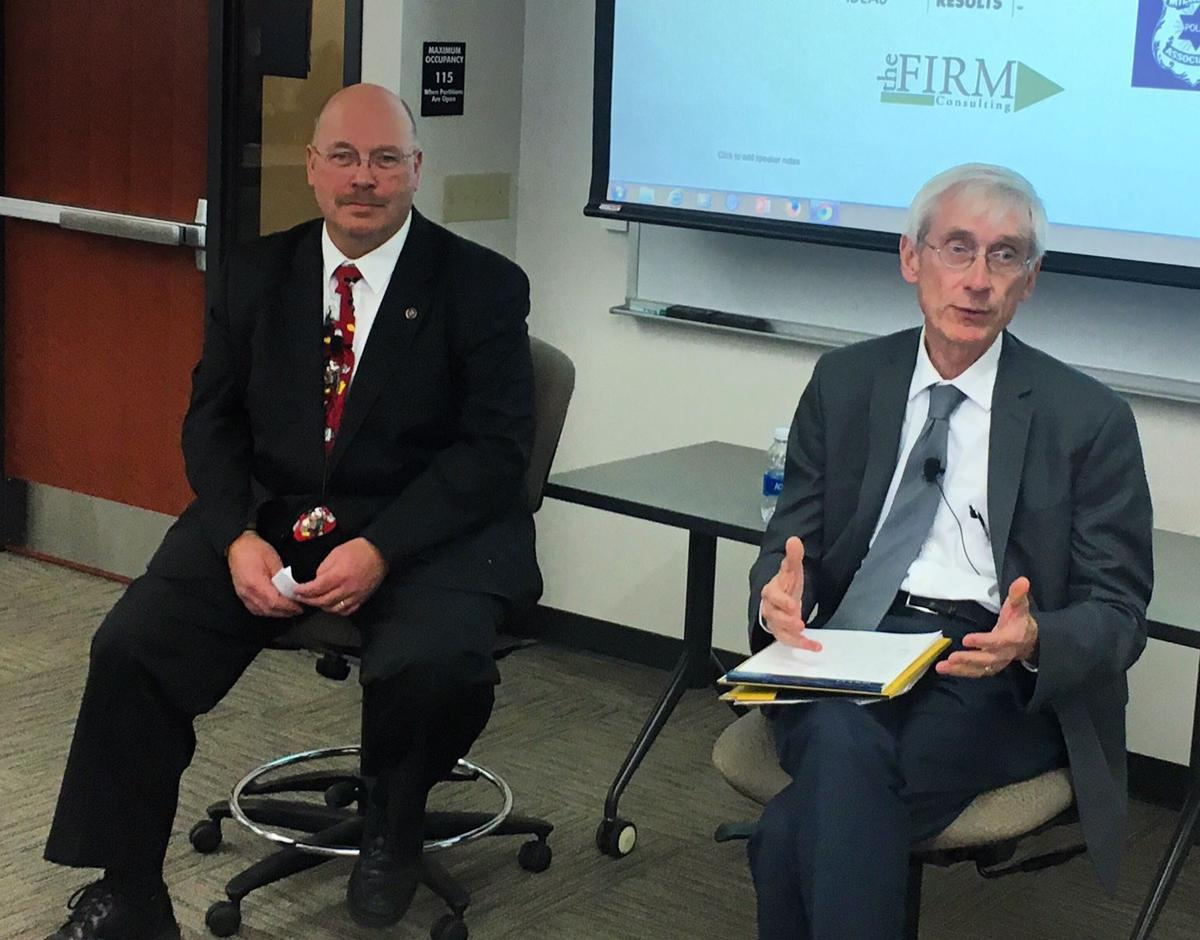 Lowell Holtz and Tony Evers (copy)