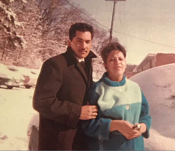 Luciano Barraza and his wife in Madison