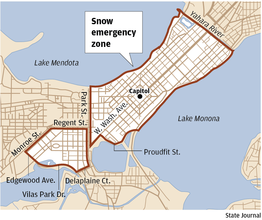 Expanded Madison Snow Emergency Zone Now In Effect Local News