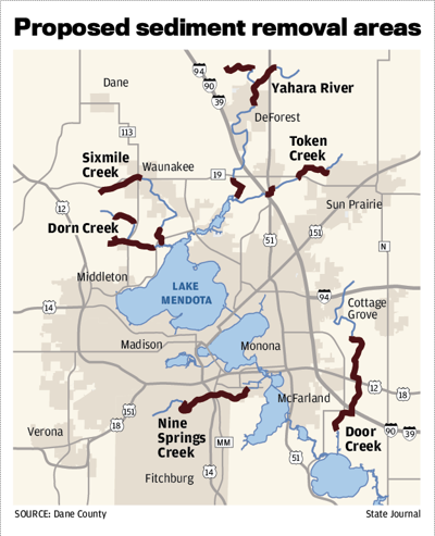 Proposed sediment removal areas