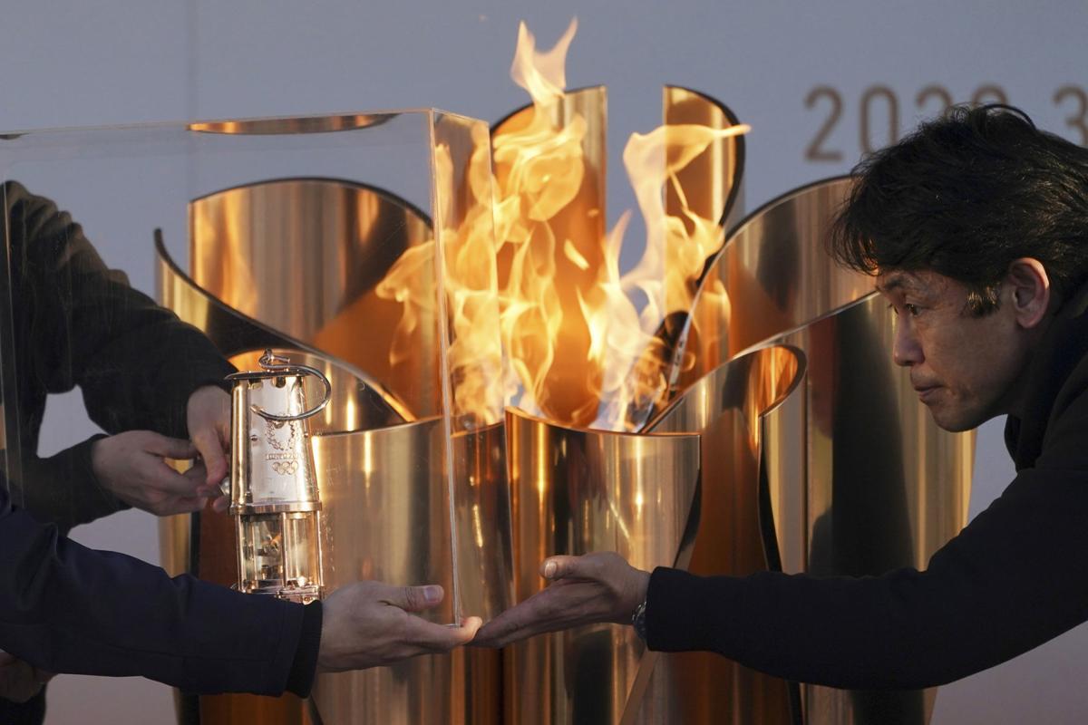 Olympic flame, Tokyo 2020 Olympics, AP generic file photo