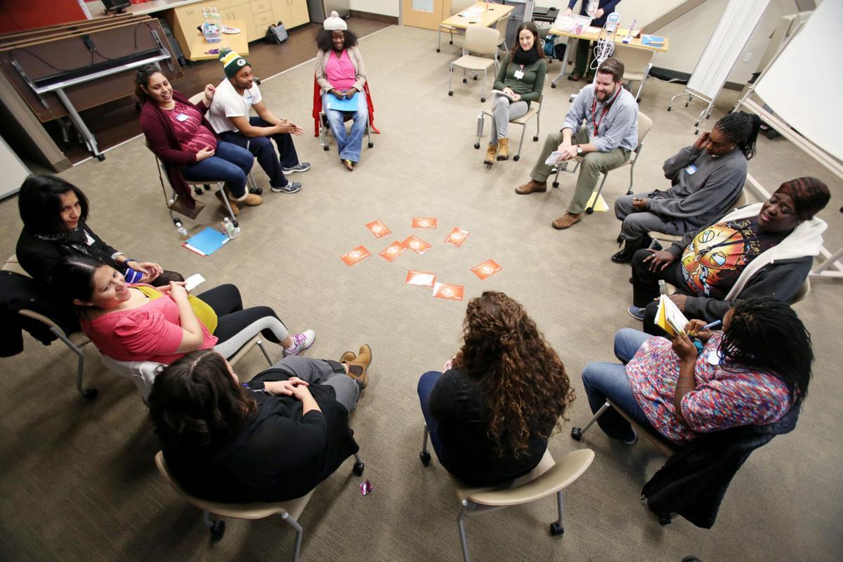 Everyone sitting in circle