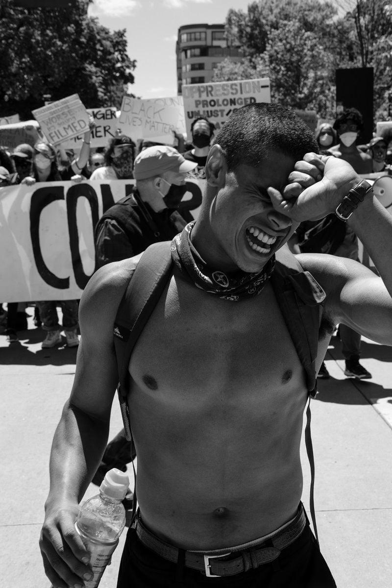 Kenechi Unachukwu protest photos