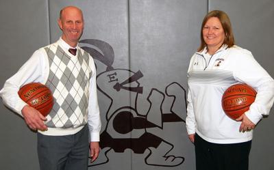 Madison Edgewood basketball coaches Chris Zwettler and Lora Staveness