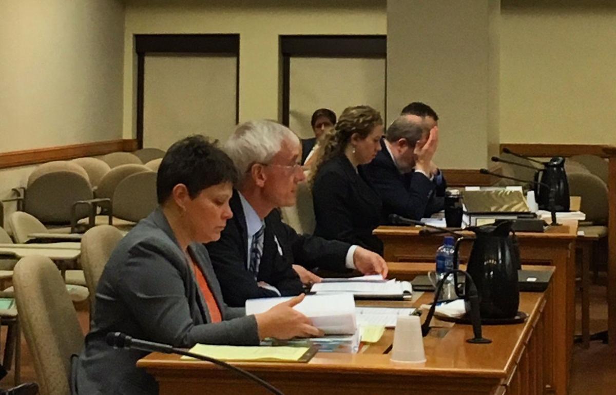 Tony Evers testifying