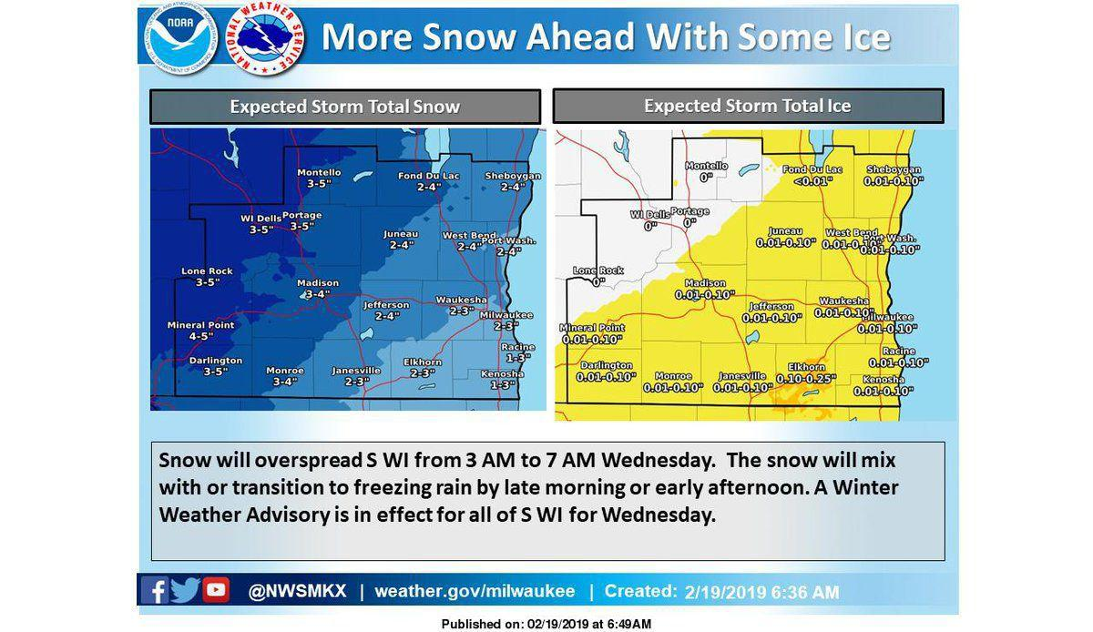 Winter Weather Advisory Posted For Southern Wisconsin's