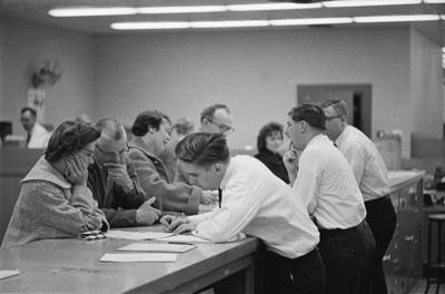 Tax preparation in Madison, 1961