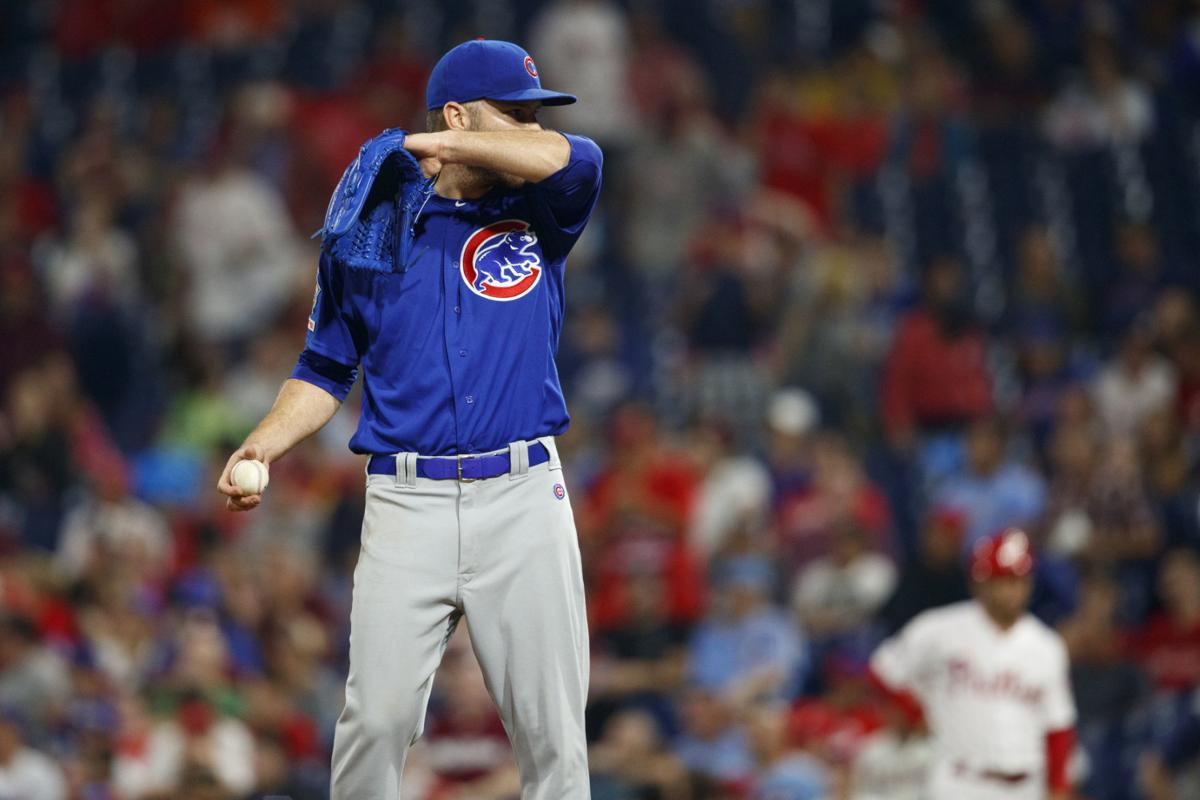 David Phelps with Cubs in 2019, AP photo