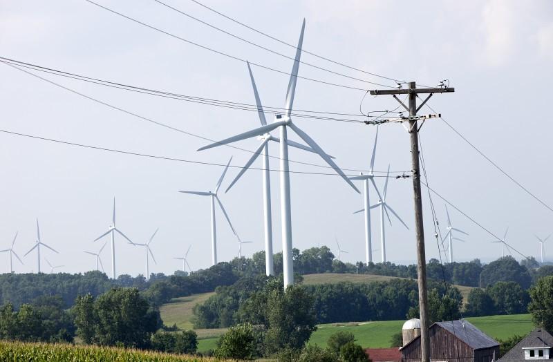 Wind turbines file photo