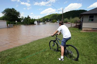Kickapoo River flooding, 2008
