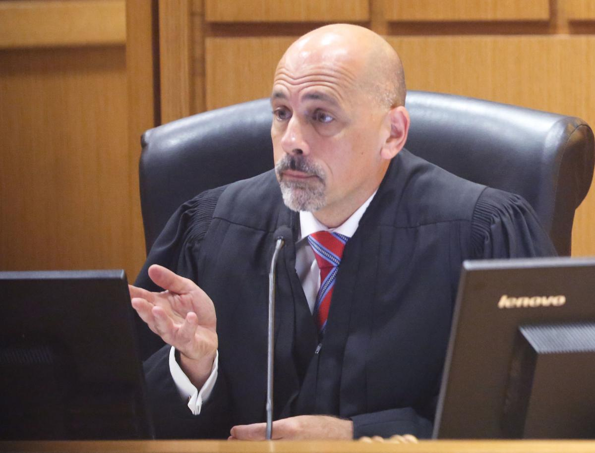 Judge Stephen Ehlke, Alec Cook sentencing, State Journal photo