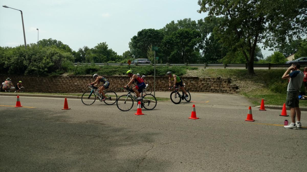 Ironman 70.3 bikers