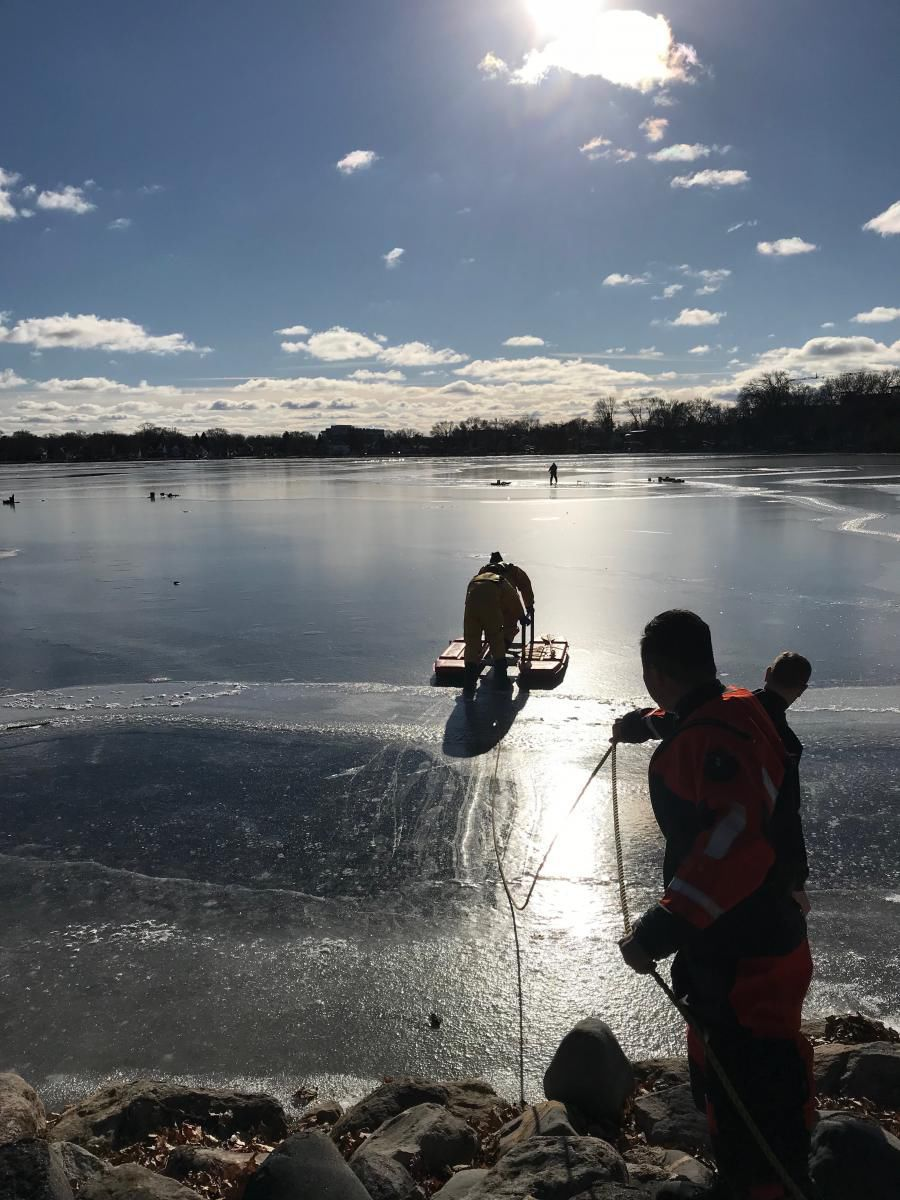 Rescue on Monona Bay