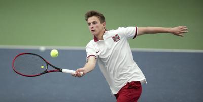 WIAA boys tennis photo: Middleton's Ryan Gold