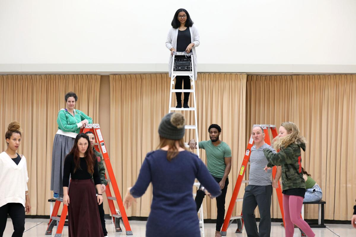 Rehearsing 'Romeo and Juliet'