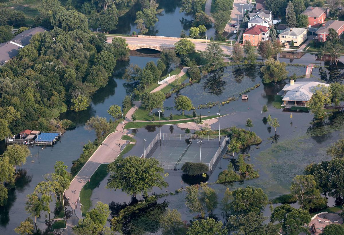 Flooding in Tenney Park