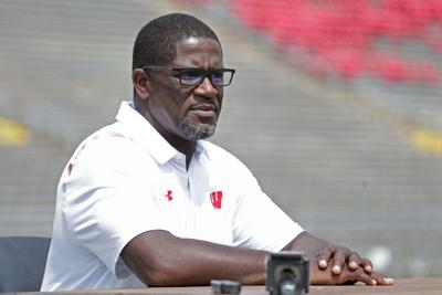 Wisconsin running backs coach Gary Brown