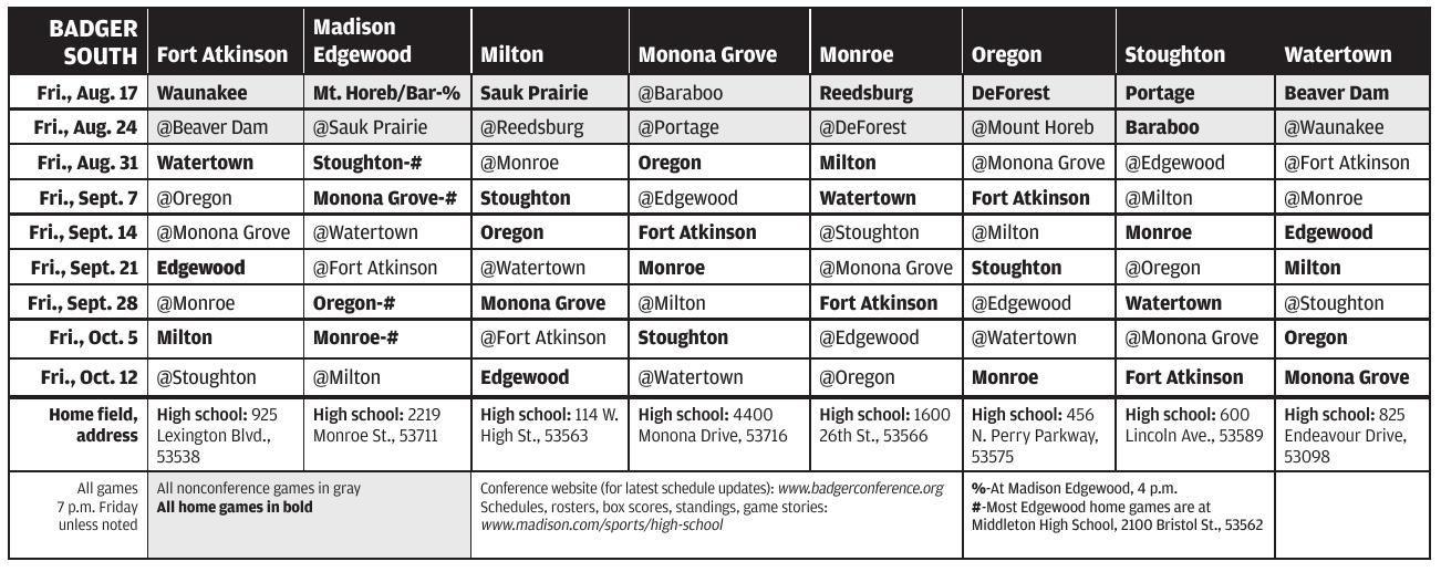 image regarding Milwaukee Brewers Printable Schedule referred to as 2018 prep soccer: Badger South Meeting plan grid