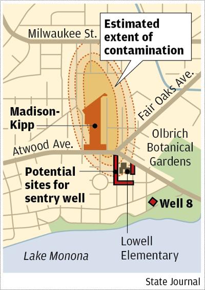 Madison-Kipp and Well 8 map