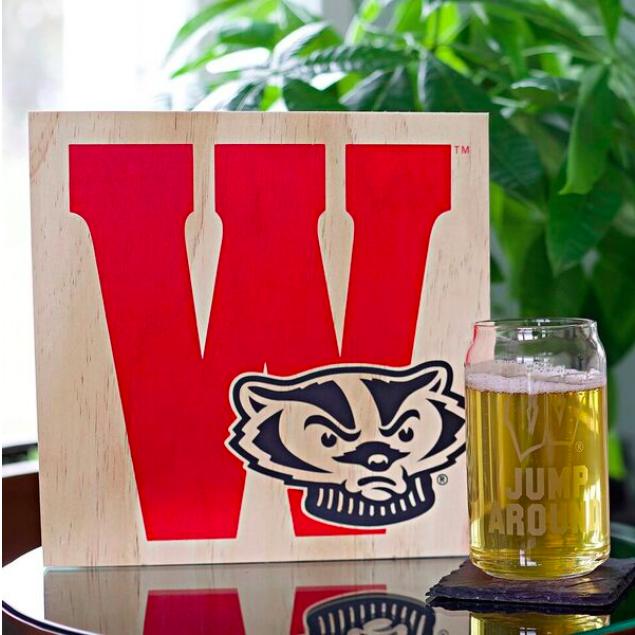 UW Etched Beer Glasses