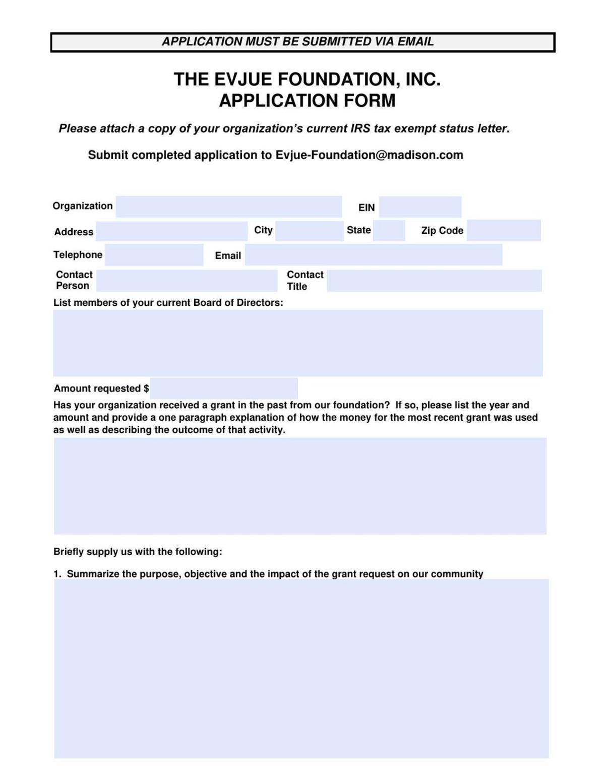 Evjue Foundation Application Form