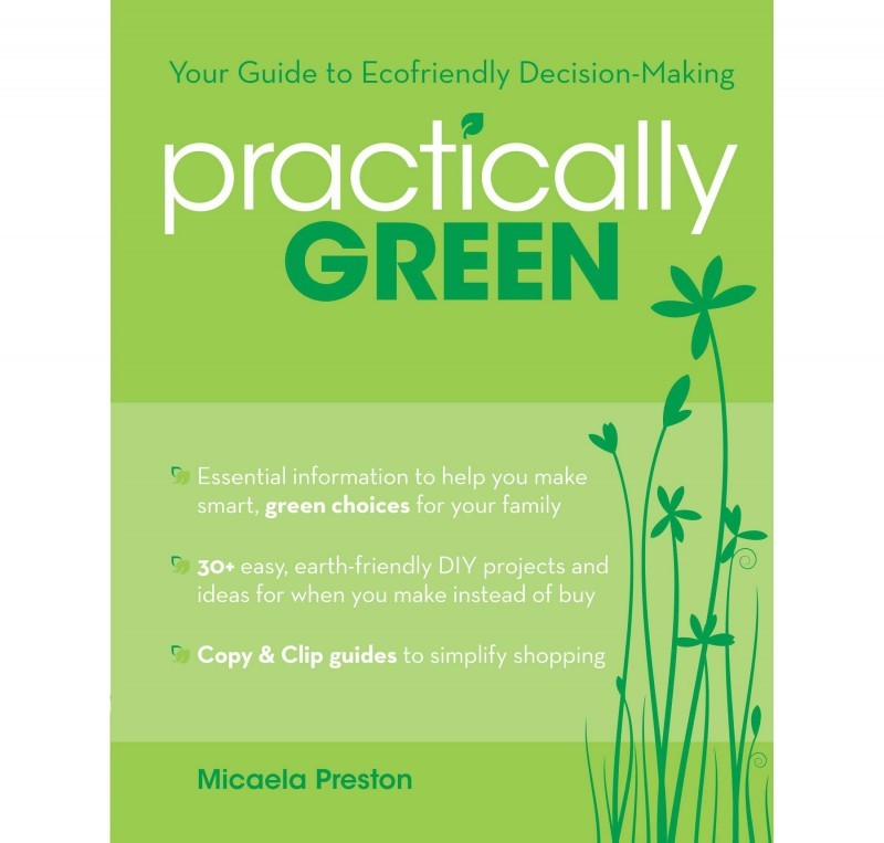 Practically Green book cover with border