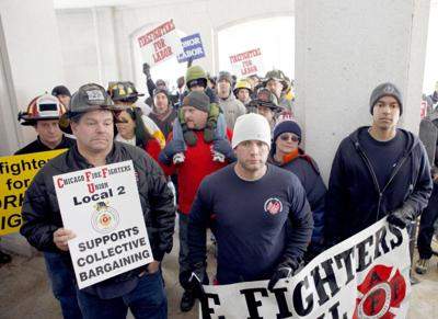 CAPITOL PROTESTS firefighters