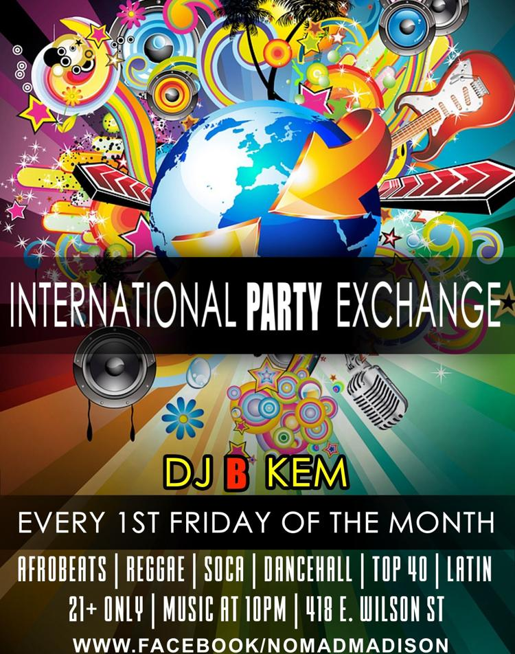 International Party Exchange w/ DJ B-Kem Flyer