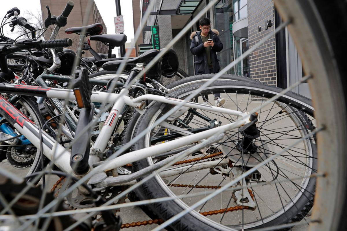 Crush of bicycles