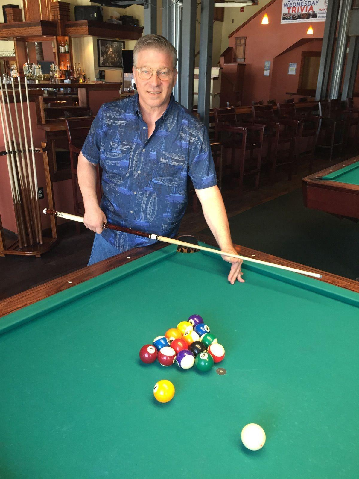 Doug moe a local pool pros new york moment madison ron dobosenski is the house pool professional at the brass ring in madison junglespirit Images