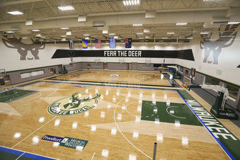Bucks' new practice facility courts, AP photo