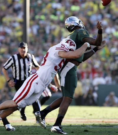 2012 Rose Bowl, Mike Taylor forces fumble Louis Nzegwu returned for TD