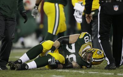 Jason Spriggs knee injury, AP photo