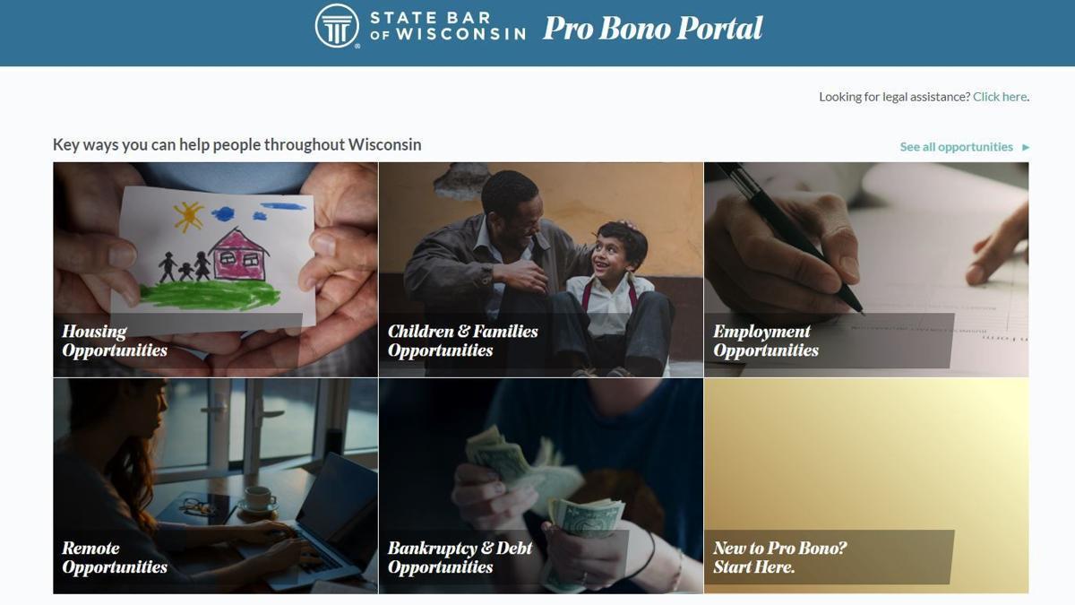 State Bar of Wisconsin Pro Bono Portal
