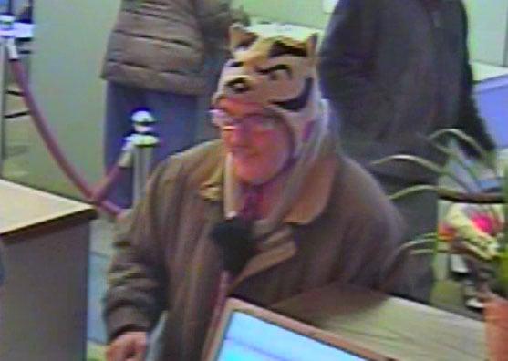 Robber wearing Bucky Badger hat