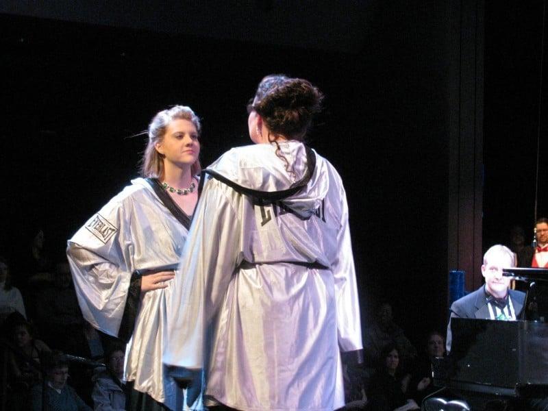 Dueling Divas, Christina Jenkins and Michelle Hackman