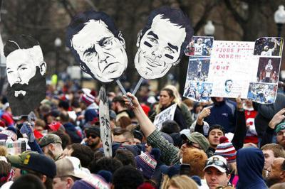 Huge crowds in Boston celebrate Patriots' 6th Super Bowl