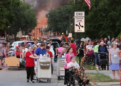 Residents in five-block radius of explosion were asked to evacuate