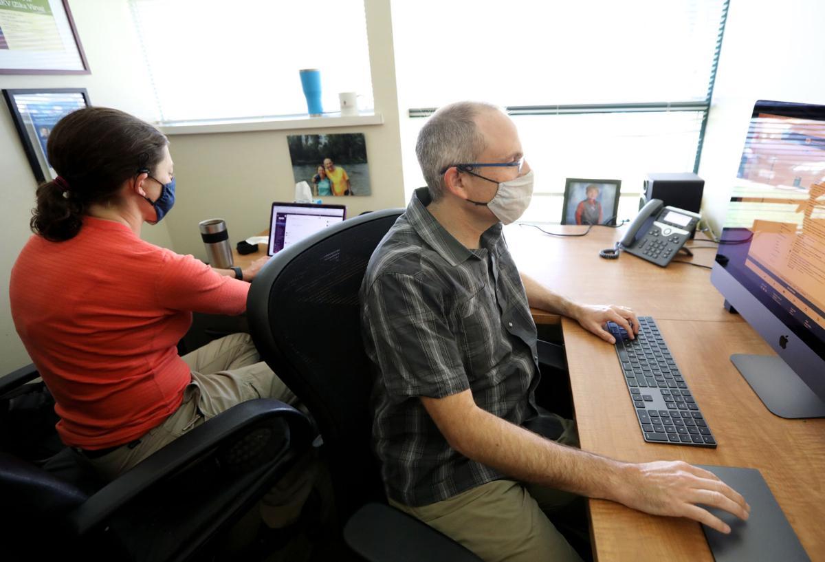 David O'Connor at computer