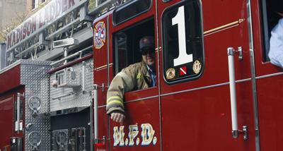 Madison fire truck tight crop