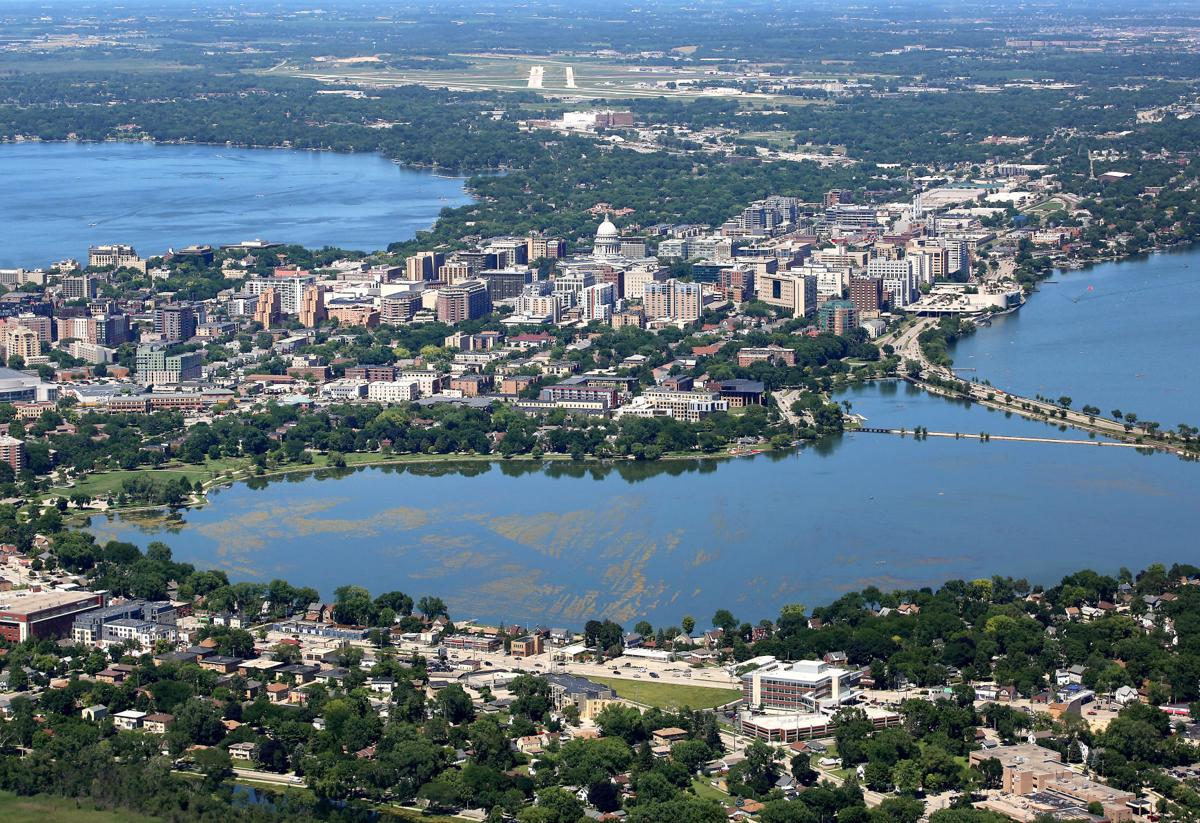 Madison's Isthmus: An aerial view