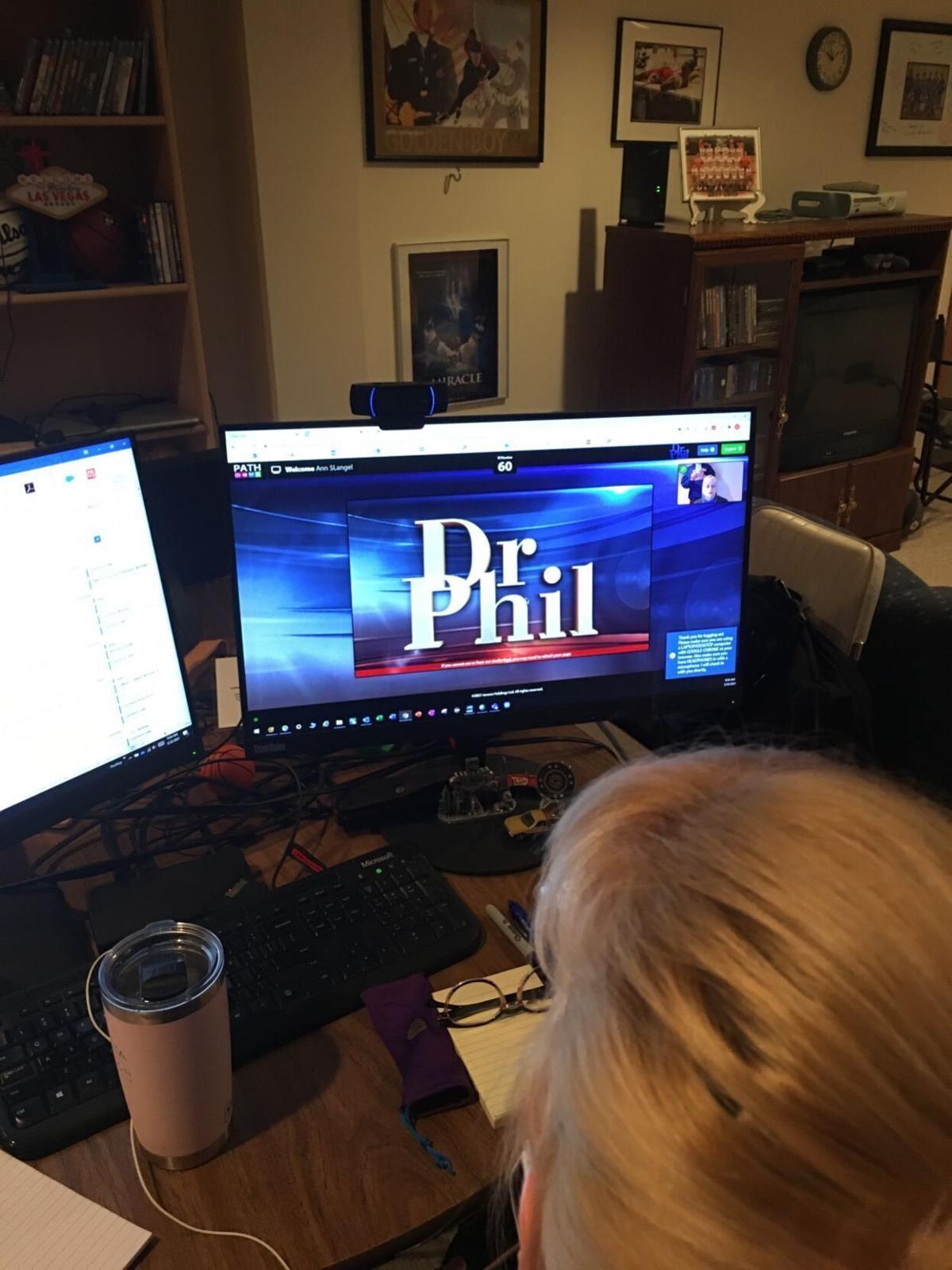 Ann at desk