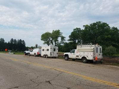 Frontier Communications working to fix broken cable line