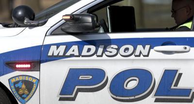 Madison squad car very tight crop