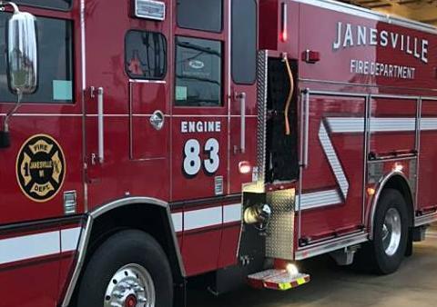 Janesville Fire Dept. truck tight crop