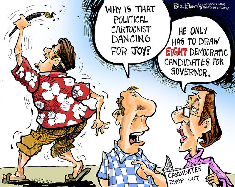 Hands On Wisconsin Editorial Cartoonist Happy Dance Opinion Cartoon Madison Com