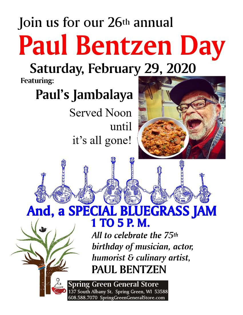 26th Annual celebration honoring the  birthday of musician, actor, humorist & culinary artist, Paul Bentzen!