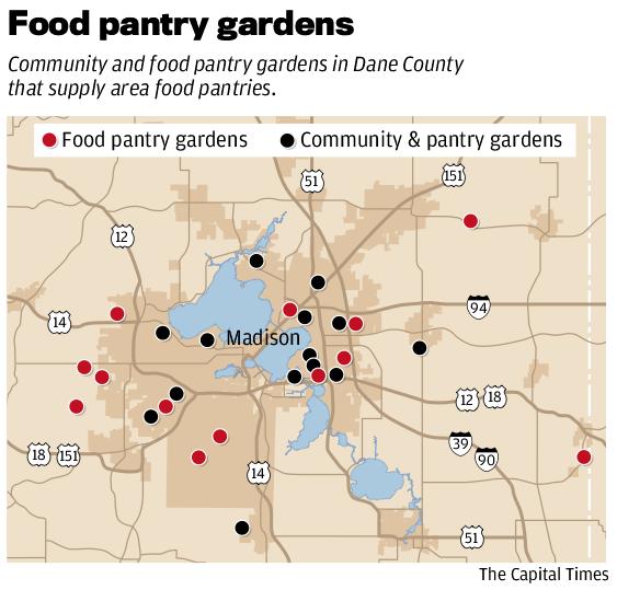 Food pantry community garden map